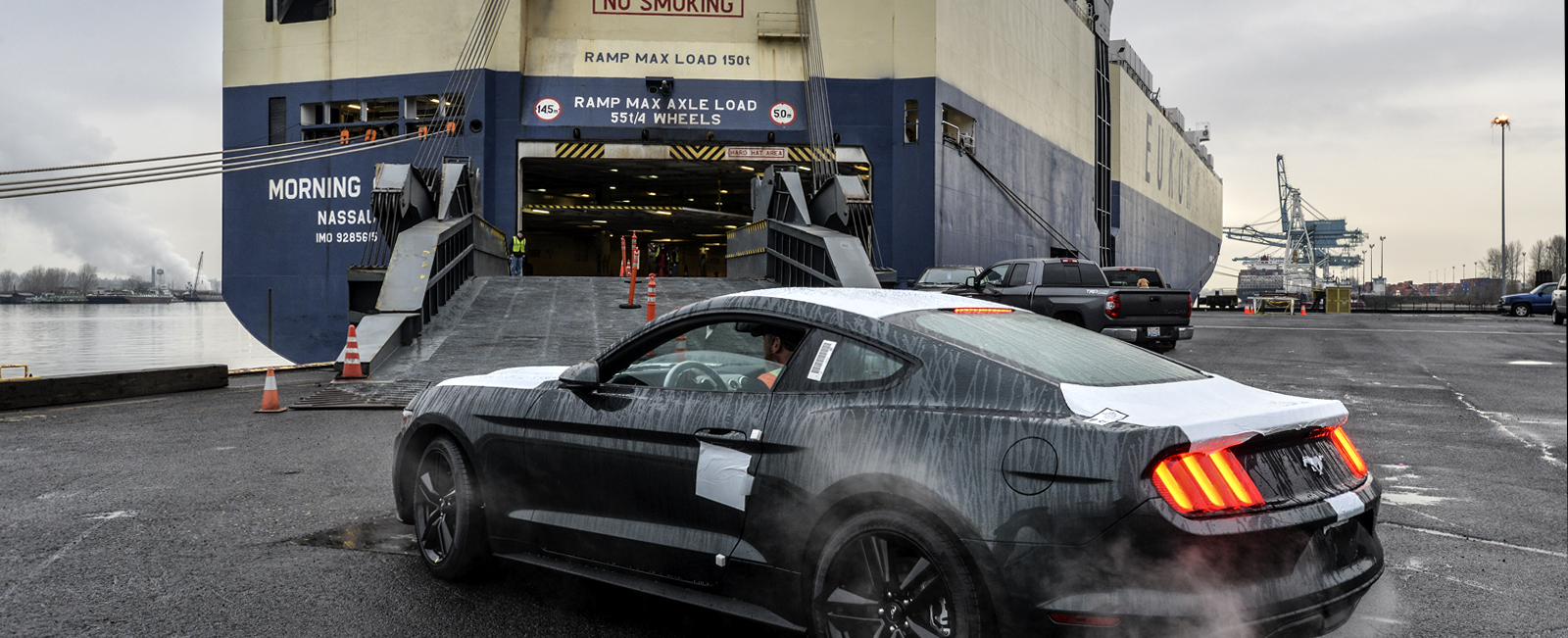 Port Auto Business Evolves as Mustang Goes Global